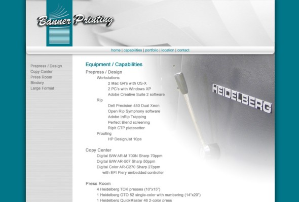 Equipment page