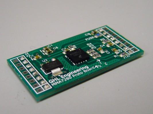 The accelerometer PCB