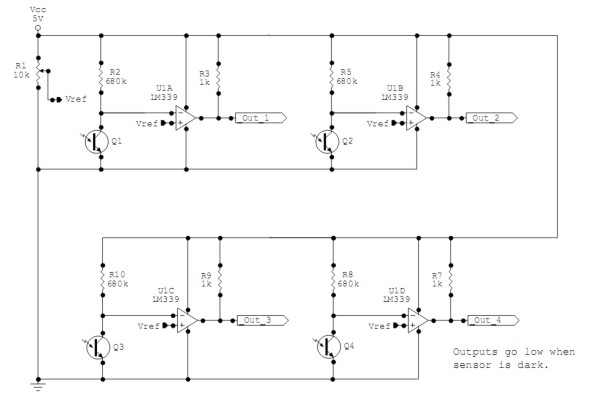 The light sensor interface circuit
