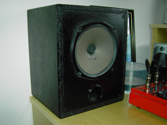 One of the speakers I built